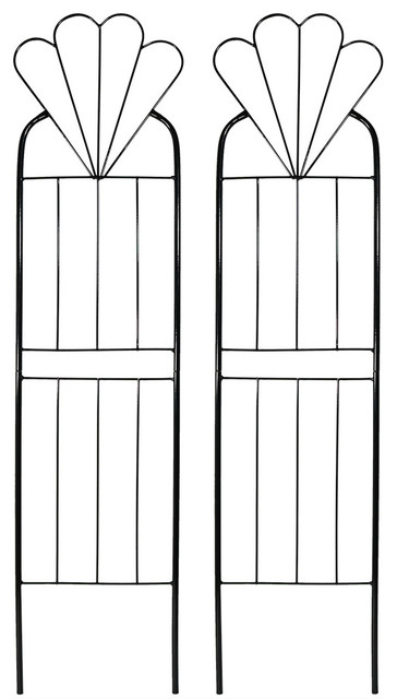 "Sunnydaze 32"" Flower Design Garden Trellis, Set Of 2."