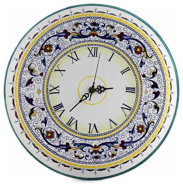 Ricco Deruta Deluxe Large Round Wall Clock Traditional