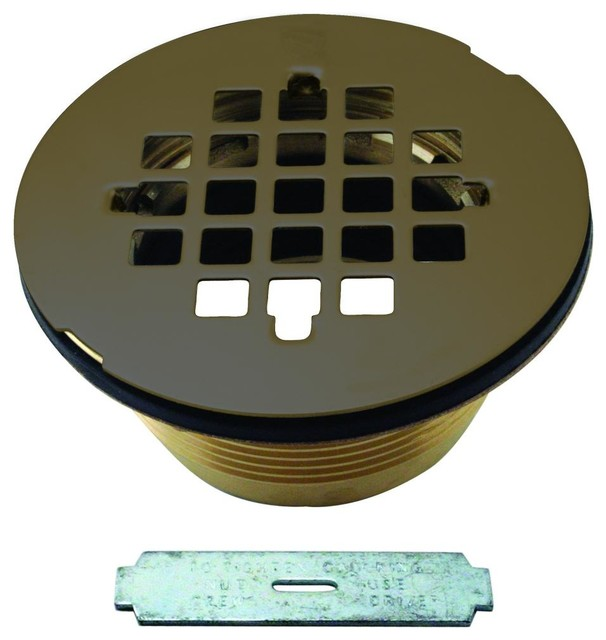 Oil Rubbed Bronze Shower Drain.Brass Body Compression Shower Drain With Grid In Oil Rubbed Bronze