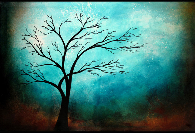 Simple And Elegant Tree Art - Contemporary - Fine Art Prints - by Heather Offord Art
