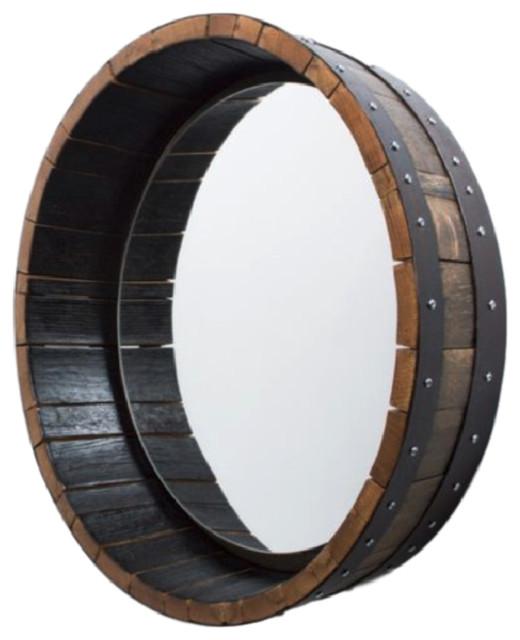 Bourbon Barrel Mirror.