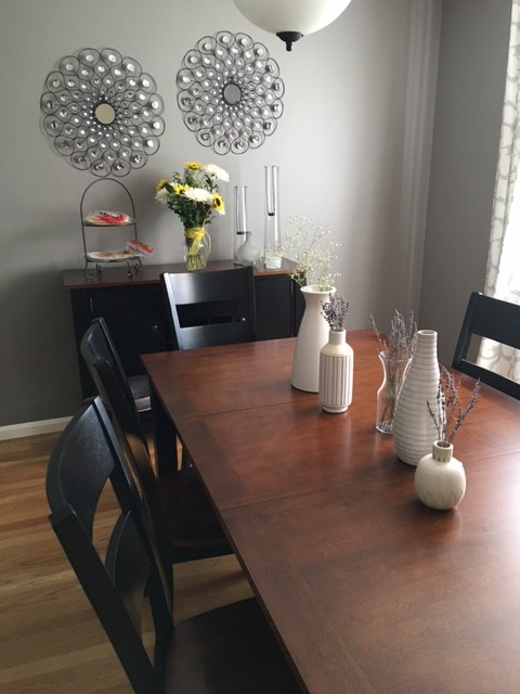 Dining Room Finishing Touches - Table and Serving Table