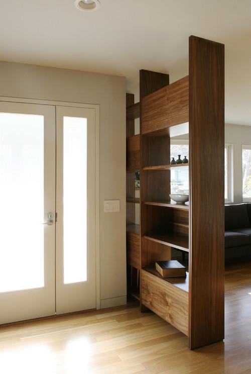 meuble de séparation entre entrée et pièce à vivre