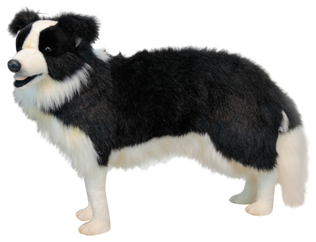 Border Collie Standing Stuffed Animal Transitional