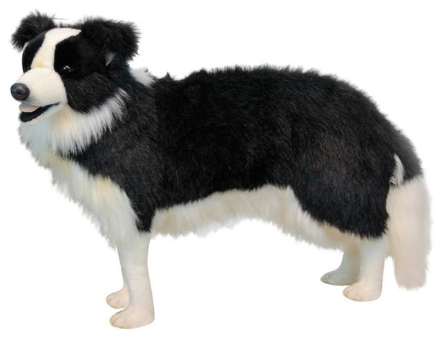 Border Collie Standing Stuffed Animal Transitional