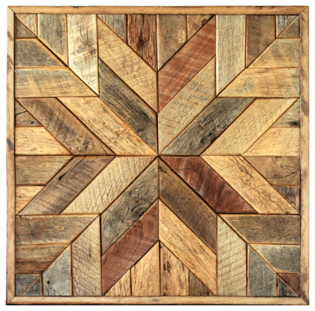 Wood Star Wall Art Quilt Block Rustic Decor