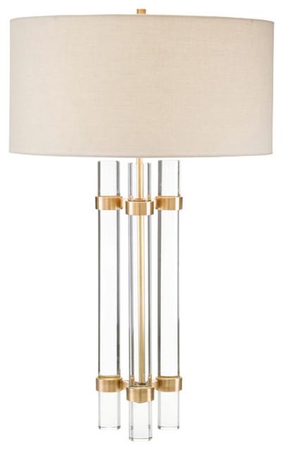 John Richard Glass Spear Table Lamp Jrl 8990 Contemporary Table