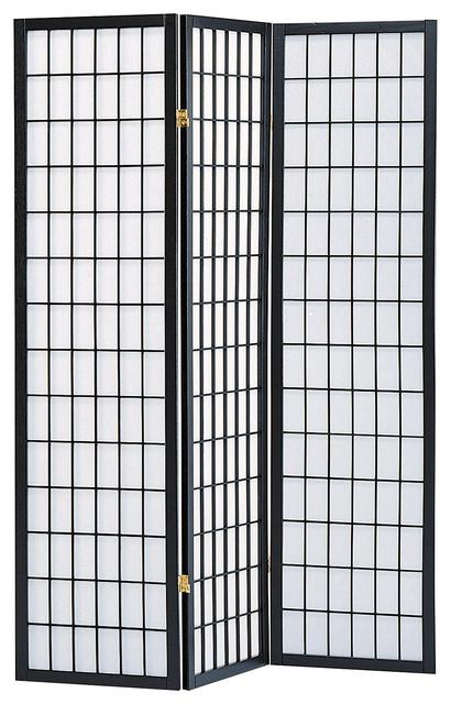 Sam 3 Panel Room Divider Black Asian Screens And Room