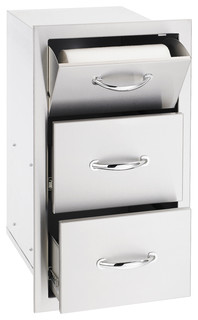 Summerset Outdoor Stainless Steel Tower and 2-Drawer Combo