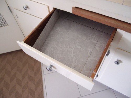 Vinyl Tiles In Kitchen Drawers Help. I Love My Kitchen And Itu0027s Light And  Airy, However, Once You Open Those Drawers And Cabinets They Are All Lined  W.