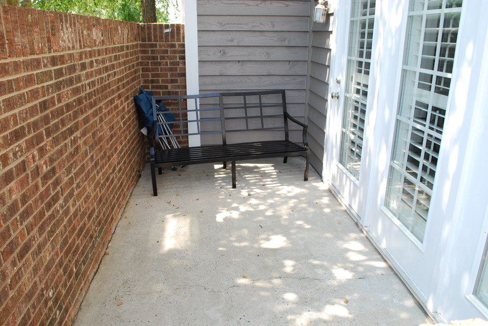 South Charlotte Condo Courtyard Redesign: Before