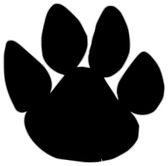 Husky Dog Animal Paw Yard Stake 3u0027 Tall Traditional Garden Statues And