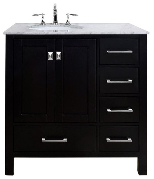 bathroom vanity without sink 36 quot malibu espresso single sink bathroom vanity without 17063