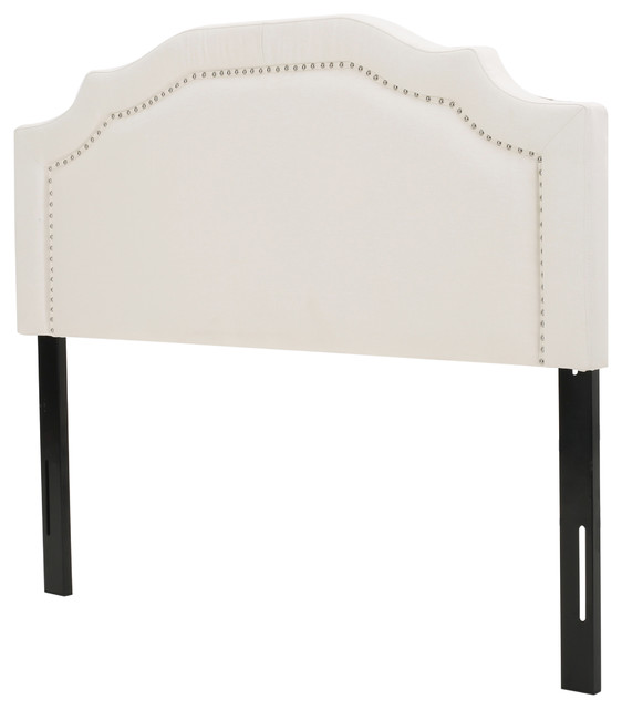 Kiera Ivory Fabric Queen/full Headboard.