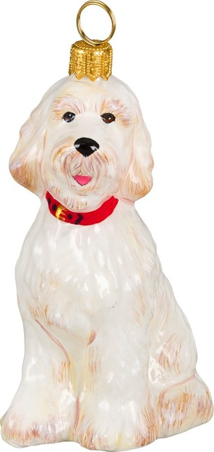 goldendoodle white ornament