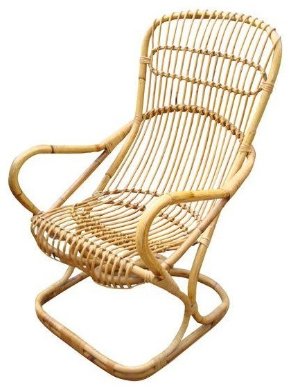 Consigned Franco Albini Mid Century Wicker Bentwood Chair