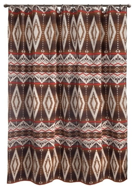 Pecos Trail Southwest Shower Curtain Southwestern