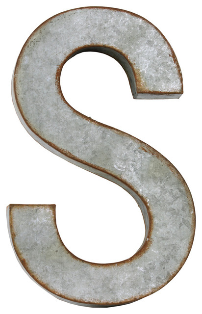 Wall Art Metal Letters : Metal letter quot s wall decor industrial letters