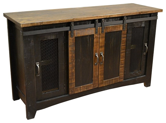Anton Sliding Barn Door TV Stand - Rustic - Entertainment Centers And Tv Stands - by Burleson ...