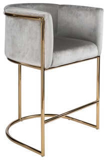 Mira Gold And Gray 26 Quot Counter Chair Contemporary Bar