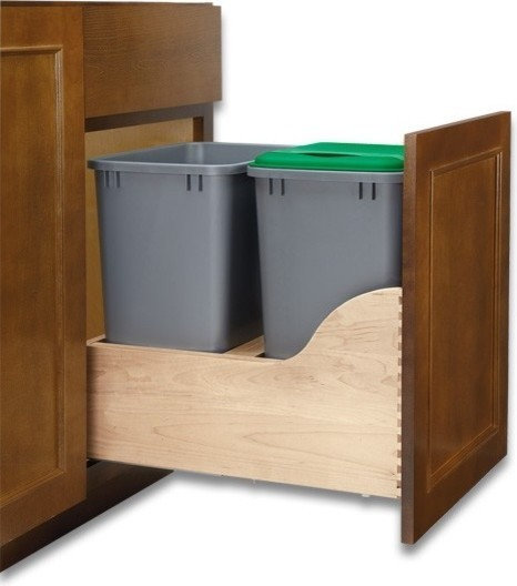 Double 35-Quart Waste Pull-Out.