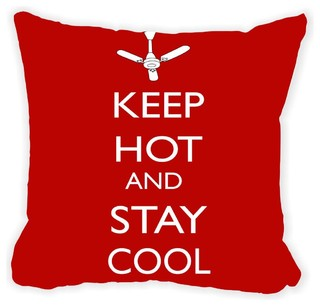 Keep Hot, Stay Cool Double-Sided Pillow, Brown - Contemporary ...