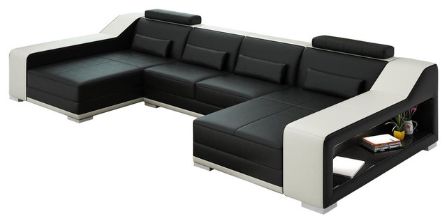 Sydney Double Chaise Sectional Contemporary Sectional Sofas