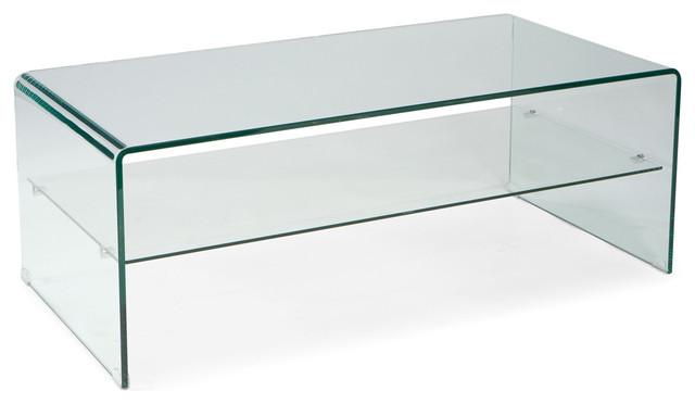 Sono Rectangular Glass Coffee TableContemporaryCoffee Tables