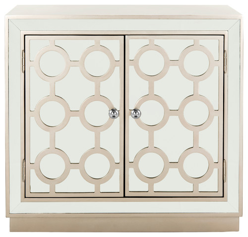 Safavieh Kaia 2-Door Chest, Champagne, Mirror