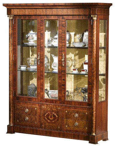 Saxa Display Cabinet - Traditional - China Cabinets And Hutches - by Infinity Furniture
