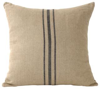 Linen Striped Pillow Blue 24 Quot X24 Quot Farmhouse