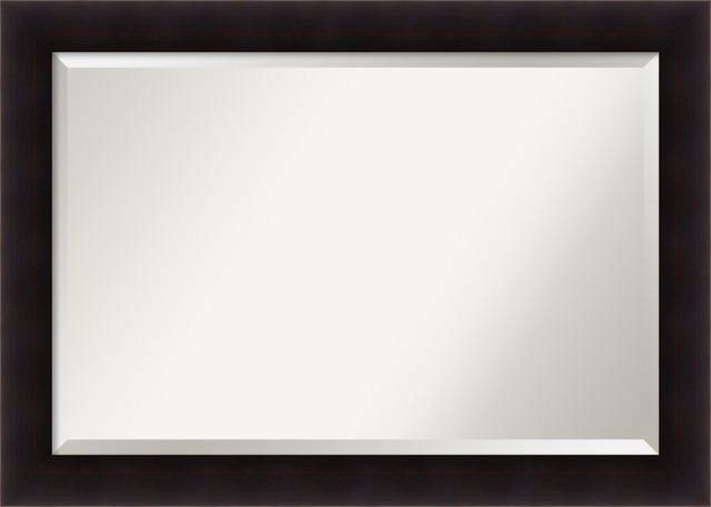 "Bathroom Mirror Extra Large, Portico Espresso: Outer Size 42 X 30""."