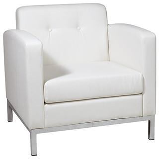 Avenue Six Wall Street Armchair, White