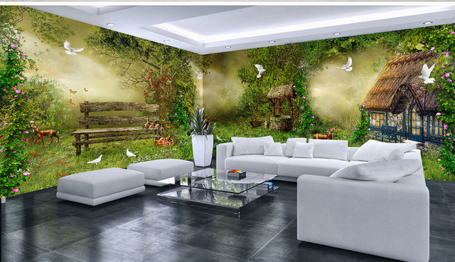 Décoration Murale Grande Panoramique Contemporary Living Room