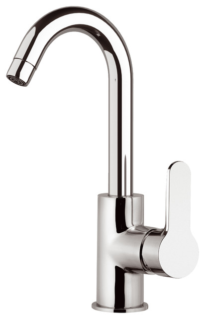 One Hole Winner Chrome Plated Round Sink Mixer Tap, 29.20 Cm