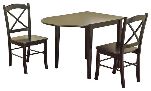 Tiffany 3 Piece Dining Set, Black
