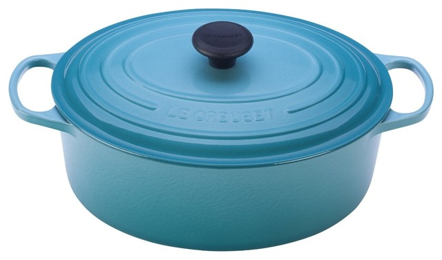 Le Creuset Signature Enameled Cast Iron Oval French Oven.