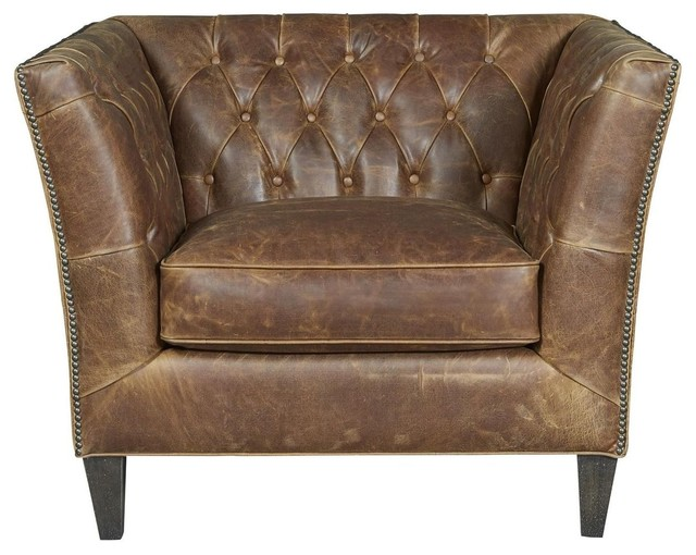Universal Upholstery Curated 682513-706 Duncan Chair, Chestnut