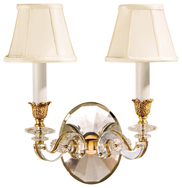 Decorative Crystal Wall Sconces : Decorative Crafts Decorative Crafts Brass Crystal Sconce - Wall Sconces Houzz