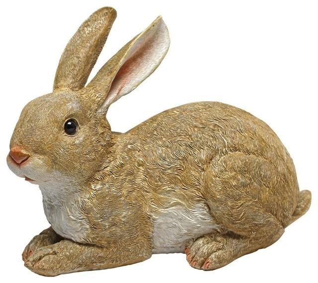 Bashful The Bunny Lying Down Garden Rabbit Statue