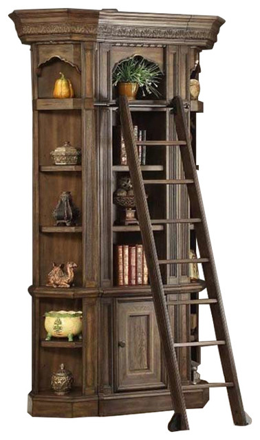Shop Houzz | Parker House Aria 4-Piece Bookcase Display Cabinet, Antique Vintage Smoked Pecan ...