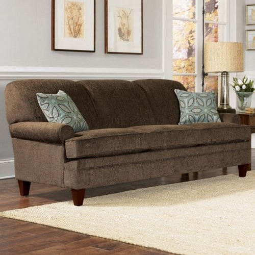 Sofa Pillows Contemporary: Charles Schneider Elma Brown Fabric Sofa With Accent
