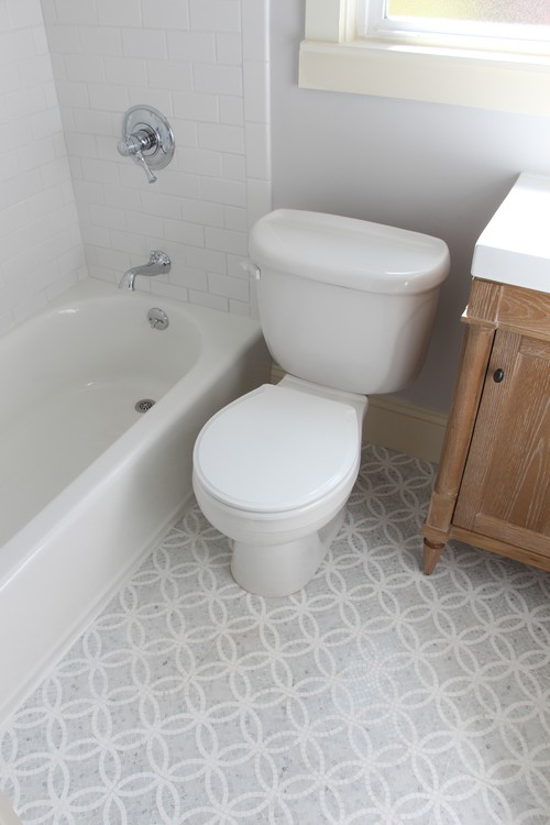Love the tile floor manufacturer product name for Bathroom remodel 94112