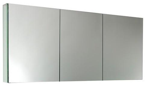 """Fresca 60"""" Wide X 26"""" Tall Bathroom Medicine Cabinet W/ Mirrors."""