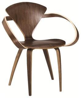 Fine Mod Imports Wooden Arm Chair, Walnut