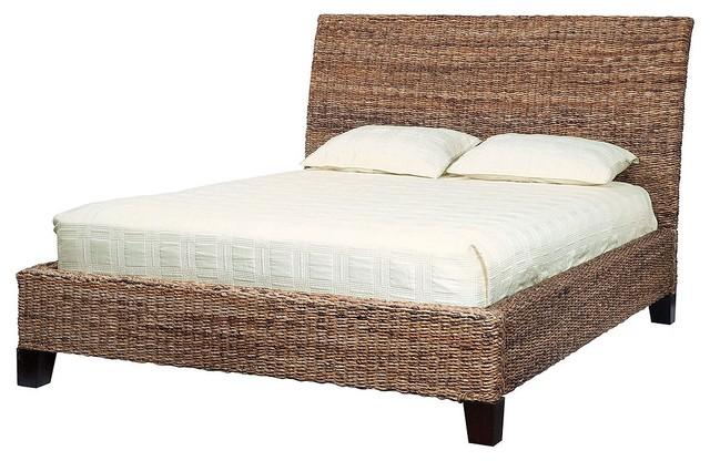 Lanai Banana Leaf Woven King Bed