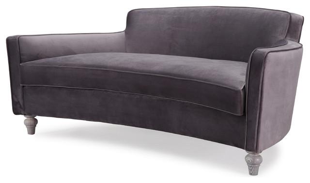 Reeves Velvet Sofa, Gray.