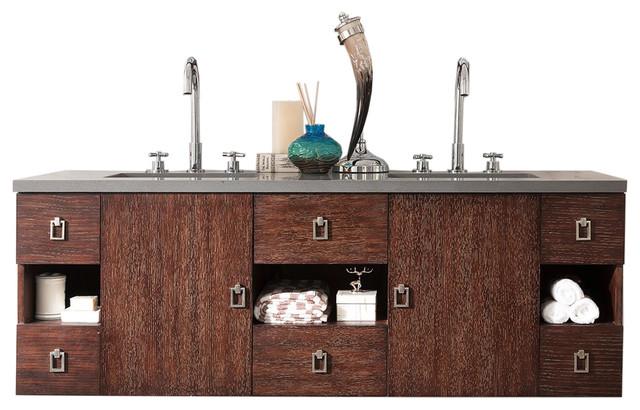 Sonoma 60 Double Vanity, Coffee Oak.