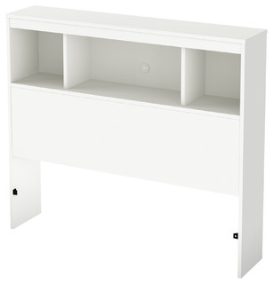 South Shore Karma Twin Bookcase Headboard, 39'', Pure White