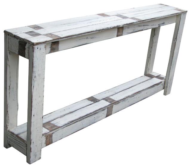 60 Inch White Farmhouse Sofa Table